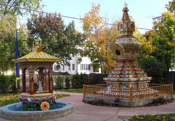 stupa at Kurukulla Center, Boston