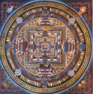 Kalachakra Mandala with Auspicious Symbols