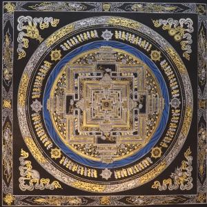 Golden and Silver Kalachakra Mandala