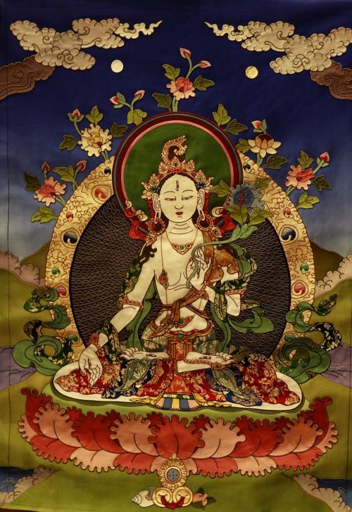 White Tara Applique