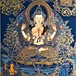 Thangka Painting of Chenrezig
