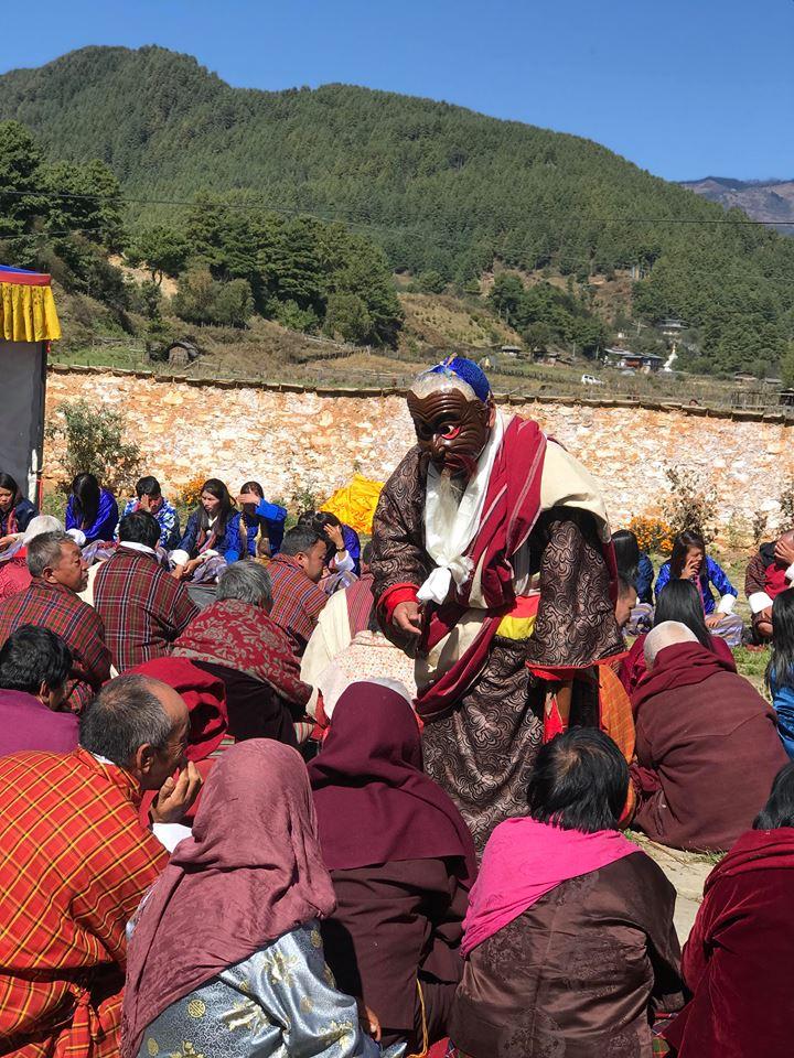 Mask dance in Jambay Lhakhang Festival