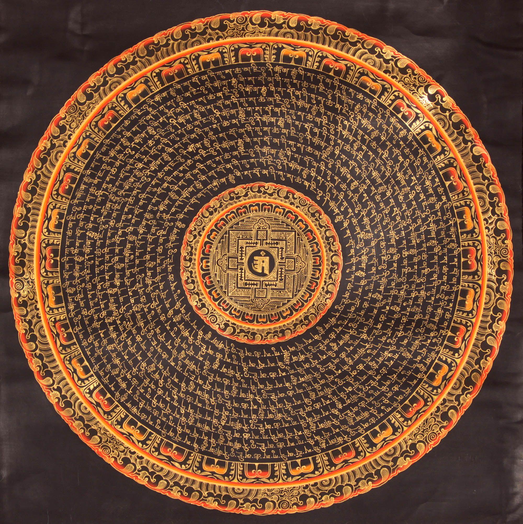 Tibetan Buddhist Mantra Mandala