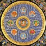 Chenrezig Mandala with 8 auspicious symbols