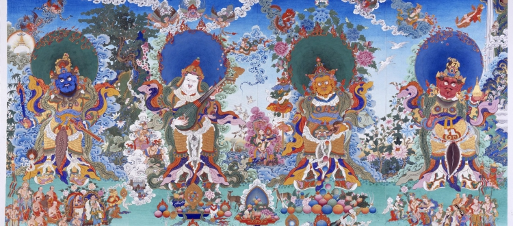 The Sacred Composition of Colors in Tibetan Art
