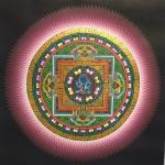 Lotus Mandala with 6 Armed Mahakala