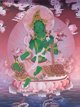 Green-Tara-Thanagka-Painting