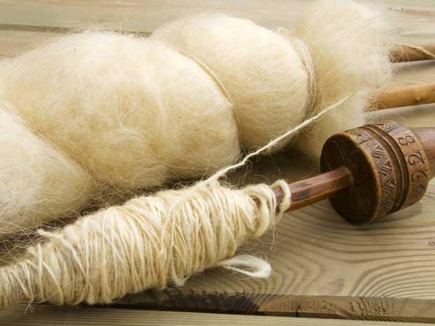 wool spindles