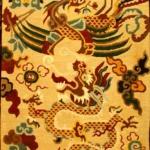 Tibetan Carpet with Dragon with Phoenix