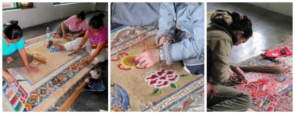 Carpet trimming-process