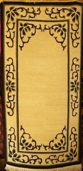 Tibetan carpet with floral border