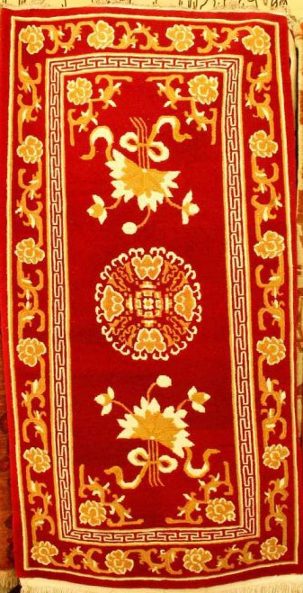 Tibetan carpet with Coin and flowers