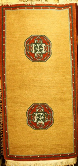 Tibetan carpet with rose design