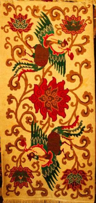 Tibetan carpet with 2 Phoenix