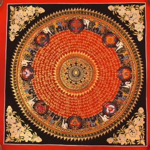 Mantra Mandala with 8 Auspicious symbols