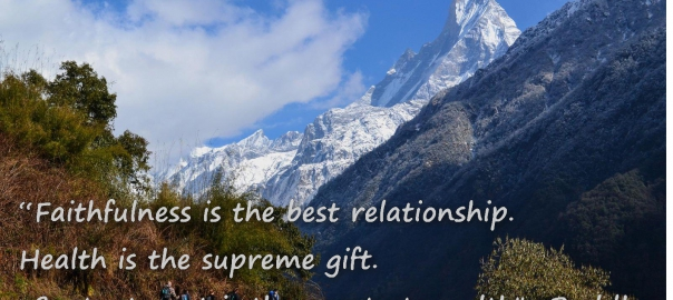 Faithfulness is the best relationship