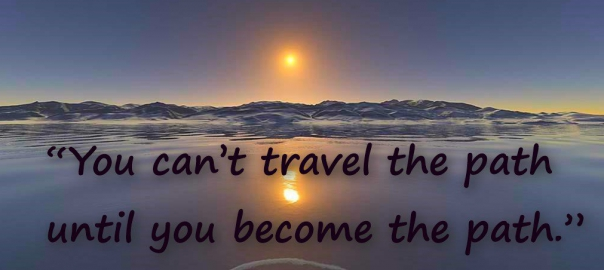You can't travel the path