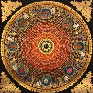 Auspicious symbol Mantra Mandala