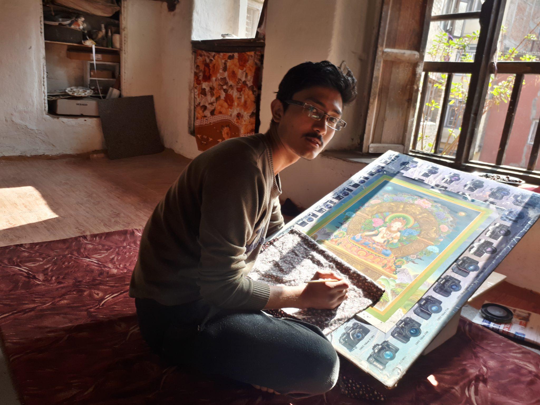 Narendra Malla painting White Tara Paubha