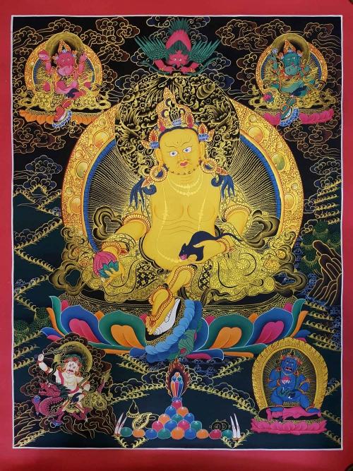Five Jambhala Thangka Painting