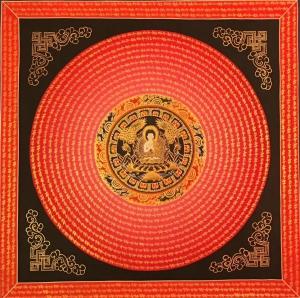 Shakyamuni Buddha Mandala with mantra