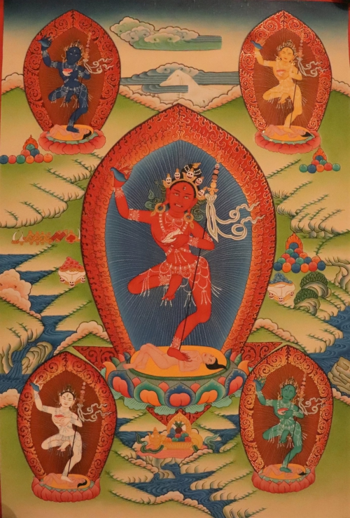 Five Dakinis Thangka