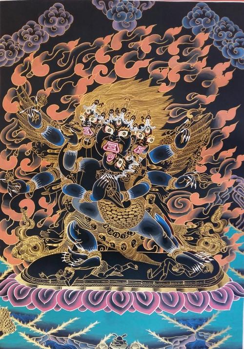 Traditional Vajrakilaya Tibetan Thangka Painting