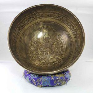 Bronze Amitabha Buddha singing bowl