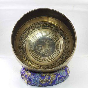 Bronze Fish singing bowl
