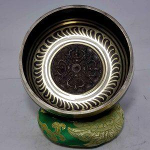 Double Dorje Embossed Singing Bowl