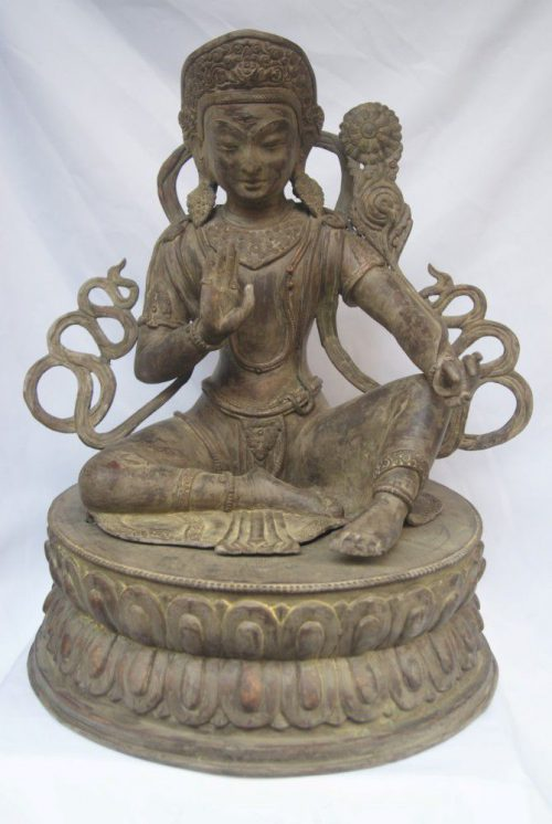 Statue of Indra Stone Color finishing