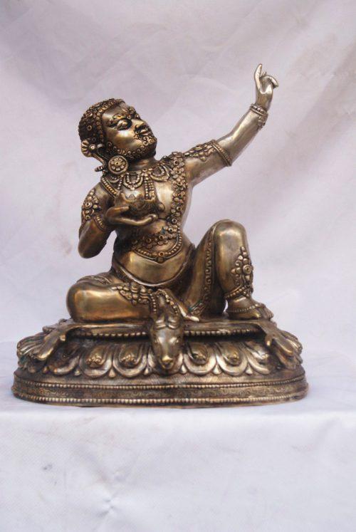 Statue of Mahasiddha Virupa with Silver Plating
