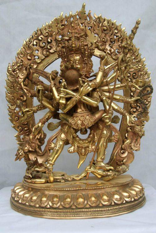 Chakrasambara Statue Natural finishing