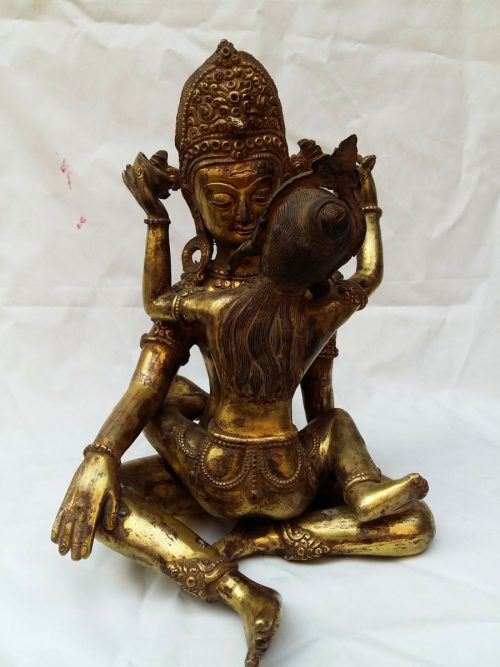 Statue of Indra Shakti with Full Gold Plating