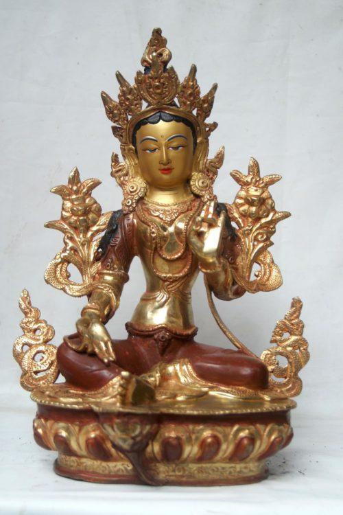 Green Tara Copper Statue