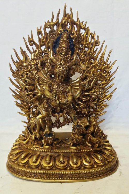 Megasambara Statue Full Fire Gold Guilded