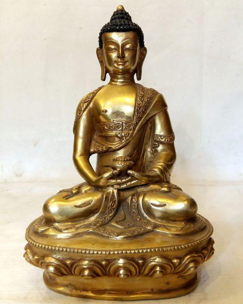 Amitabha Buddha Statue - Full Fire Gold Plated