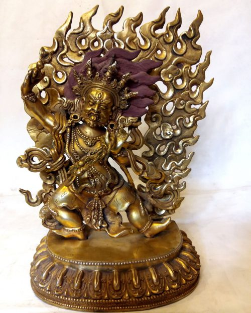 Vajrapani Statue - Full Fire Gold Plated