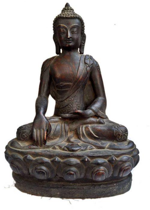 +50 Year Old Antique Statue of Shakyamuni Buddha