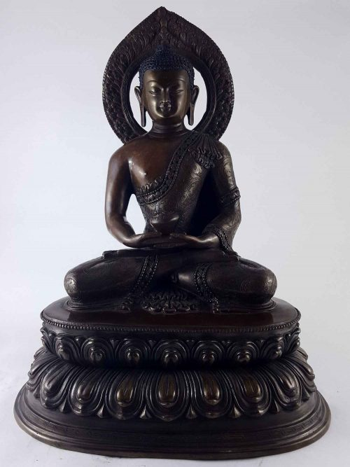 Amitabha Buddha Statue Copper with Carving HQ