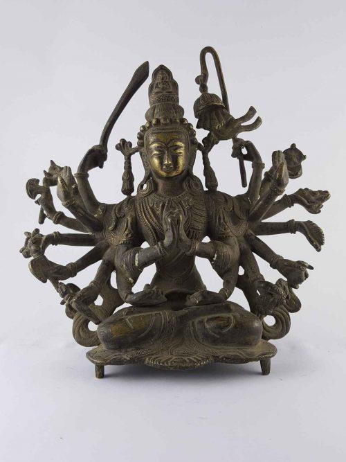 Chundi Statue Brass +60 Years  Antique