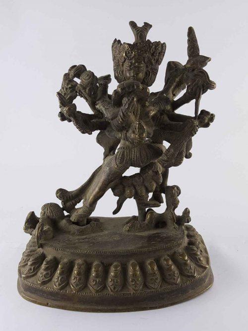 Antique Chakrasambara Statue Brass +60 Years