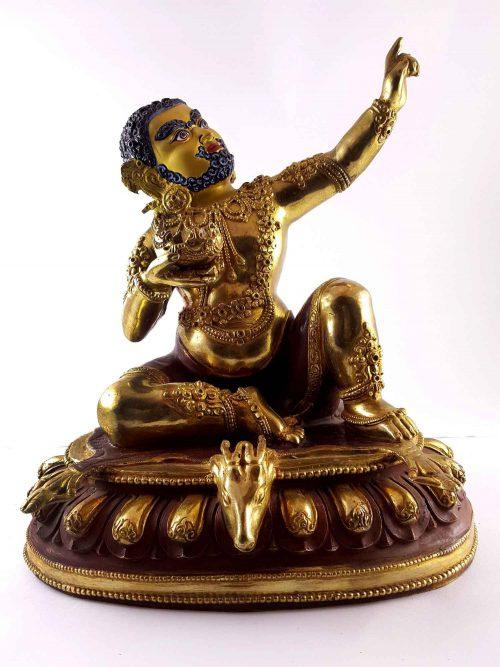 Statue of Mahasiddha Virupa Painted Face