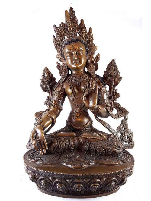 Statue of White Tara Deep Carving