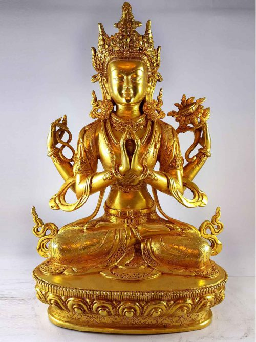 Statue of Avalokitesvara chenrezig