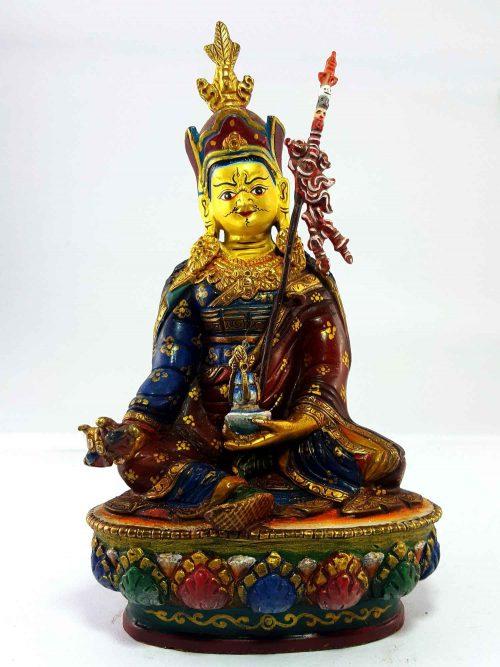 Padmasambhava Handmade Statue Thangka Color finishing