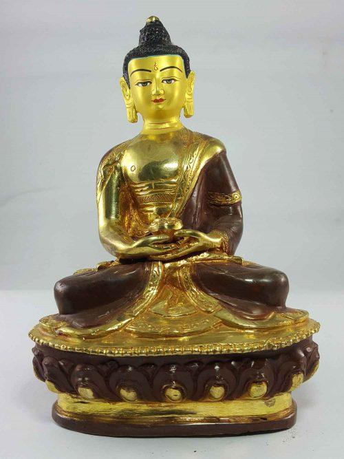 Amitabha Buddha Statue Painted Face
