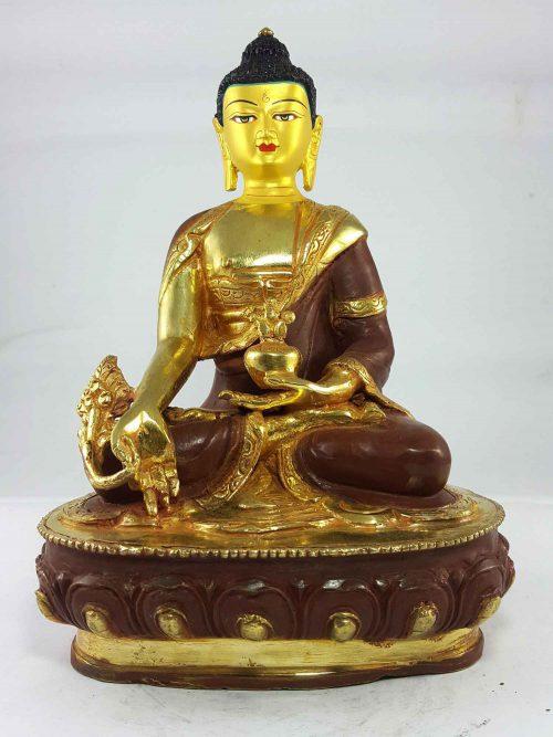 Medicine Buddha Statue Painted Face
