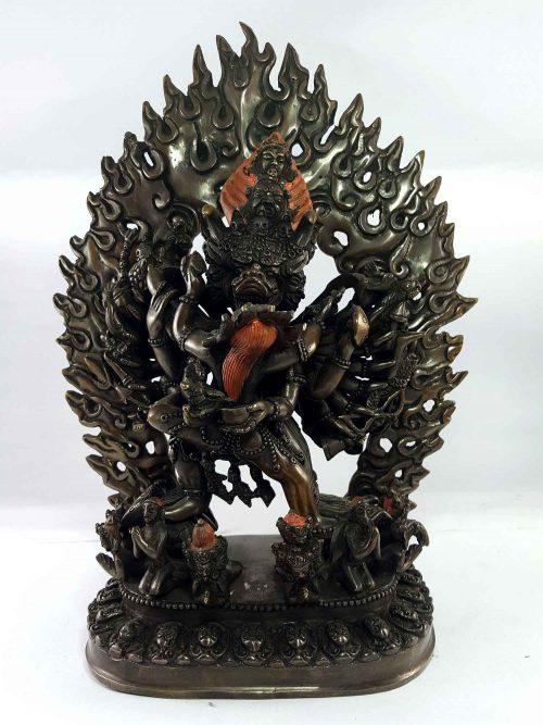 Statue of Megasambara / Yamanta / Vajrabhairab Copper