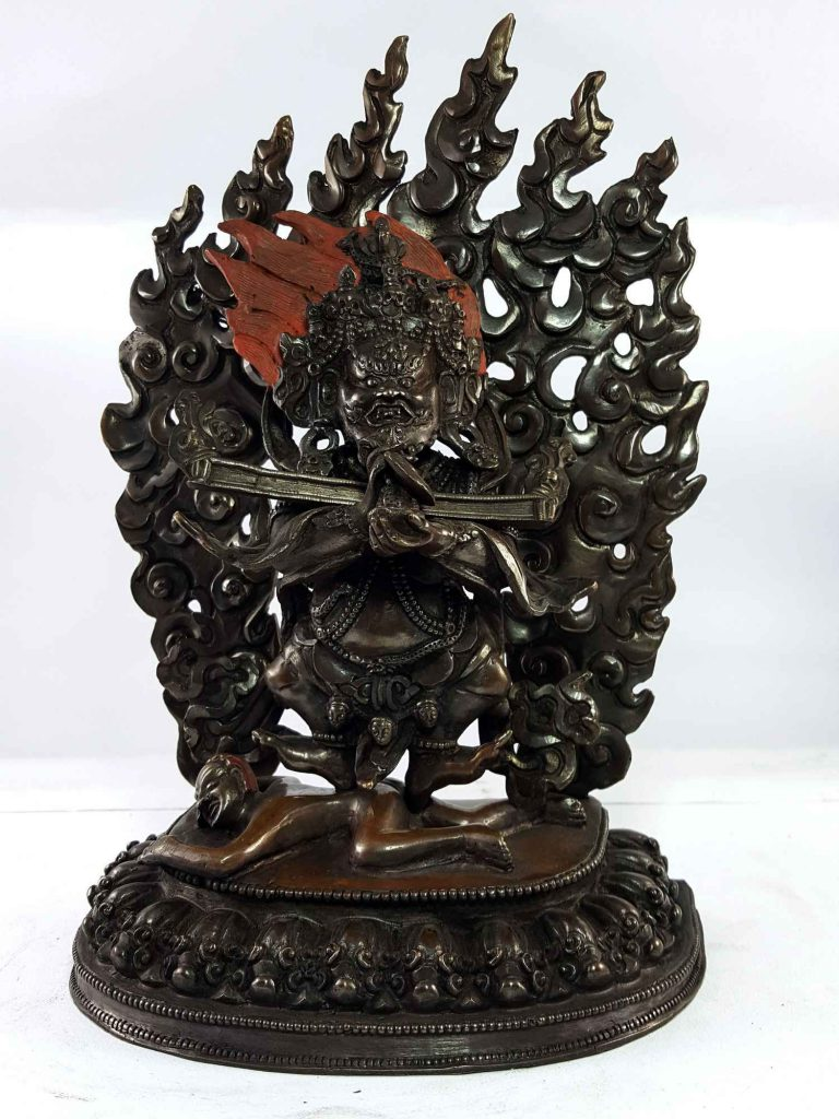 Statue of 2 armed Mahakala Copper